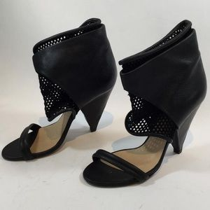 IRO Sumek Leather Mesh Booties Black